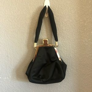 Vintage hand bag black clutch